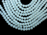 White Opalite Beads, Round, 8mm-BeadBasic