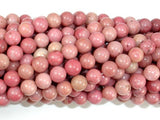 Rhodonite Beads, Round, 6mm (6.7mm), 15.5 Inch