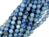 Blue Aventurine, 8mm (8.5 mm) Round Beads, 15.5 Inch, Full strand