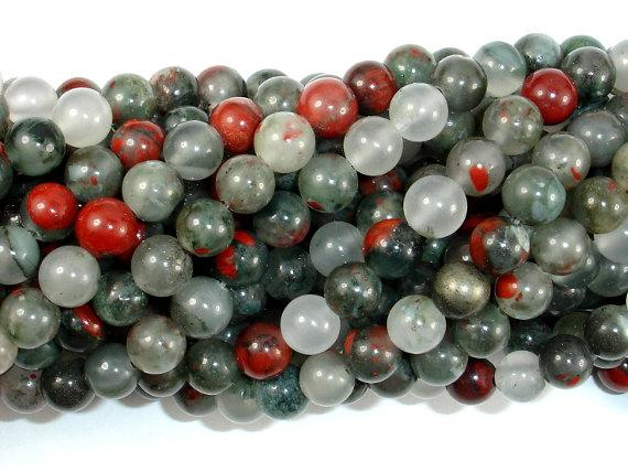 African Bloodstone, 6mm (6.5 mm) Round Beads, 15 Inch, Full strand
