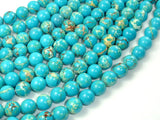 Blue Impression Jasper, 8mm(8.3mm) Round Beads, 15 Inch, Full strand