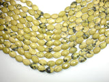 Yellow Turquoise, 10 x 14 mm Faceted Oval Beads-BeadBasic