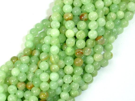 Afghan Jade Beads, Round, 6mm, 15.5 Inch