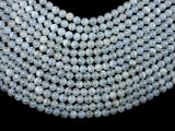 Blue Chalcedony Beads, Blue Lace Agate Beads, 7mm Round Beads-BeadBasic