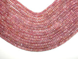 Genuine Ruby, Approx 3.5 x 6mm Faceted Rondelle Beads, 16 Inch, Full strand