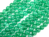 Dyed Jade- Green, 8mm Round Beads-BeadBasic