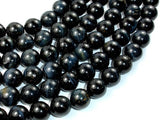 Blue Tiger Eye Beads, 12mm Round Beads-BeadBasic