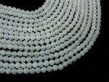 White Agate, 6mm (6.3 mm) Round Beads-BeadBasic