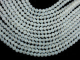 White Agate, 6mm (6.3 mm) Round Beads, 15.5 Inch, Full strand