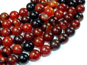 Sardonyx Agate, 12mm (12.3 mm) Round Beads-BeadBasic
