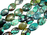 Genuine Turquoise, Approx (14-17)mmx(18-22)mm Oval Beads, 8 Inch, Half strand