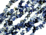 Sodalite, 4mm - 9mm Chips Beads, 34 Inch, long full strand