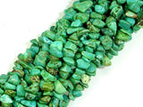 Turquoise Howlite, 4mm - 9mm Chips Beads, 34 Inch, Long full strand-BeadBasic