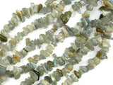 Labradorite Beads, 4mm - 9mm Chips Beads, 34 Inch, Long full strand