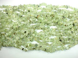 Prehnite, 4-8mm Chips Beads, 34 Inch, Long full strand