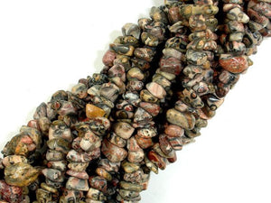 Leopard Skin Jasper, 4-9mm Chips Beads-BeadBasic