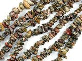 Leopard Skin Jasper, 4-9mm Chips Beads, 34 Inch, Long full strand