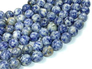 Blue Spot Jasper Beads, 12mm Round Beads, 15 Inch, Full strand