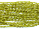 Olive Jade Beads, 4mm Round Beads-BeadBasic