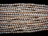 Fresh Water Pearl Beads, Peach, Potato 6.5-8mm-BeadBasic