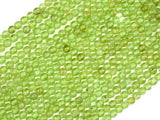 Peridot Beads, 3mm Round Beads-BeadBasic