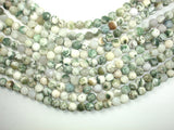 Matte Tree Agate Beads, 8mm (8.3mm) Round Beads, 15 Inch, Full strand