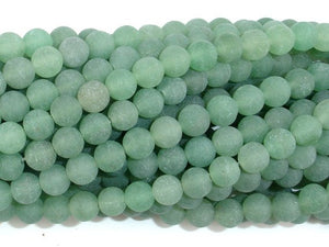 Matte Green Aventurine Beads, 6mm Round Beads-BeadBasic
