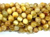 Golden Tiger Eye, 8mm (8.3 mm) Round Beads, 15.5 Inch, Full strand