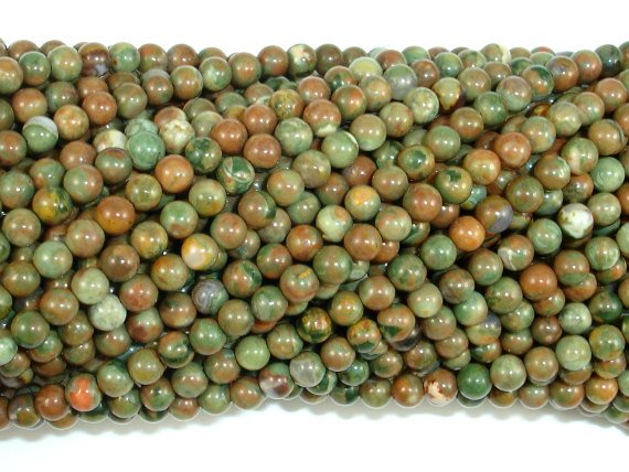 Rhyolite Beads, 3mm Round Beads-BeadBasic