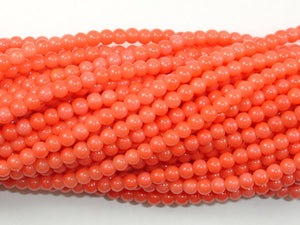 Pink Coral Beads, Angel Skin Coral, 3mm Round Beads-BeadBasic
