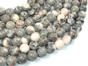 Pink Zebra Jasper, 10mm Round Beads-BeadBasic