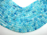 Frosted Matte Agate - Sea Blue, 8mm Round Beads-BeadBasic