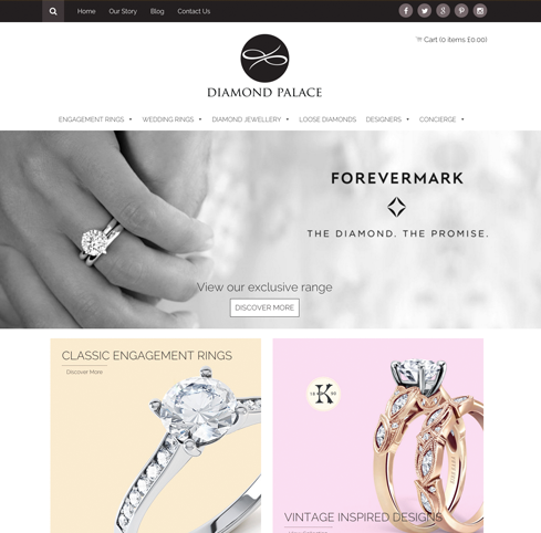 Diamond Palace Web Design
