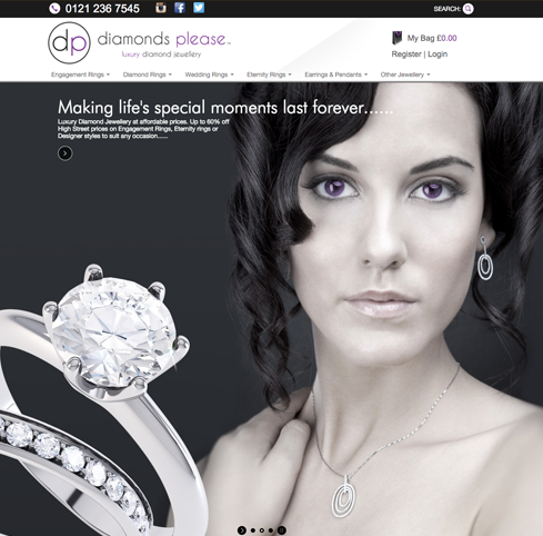 Diamonds Please Web Design