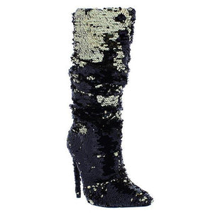 Liquid Metal Sequin Boot