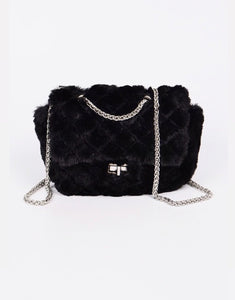 Quilted Fur Bag