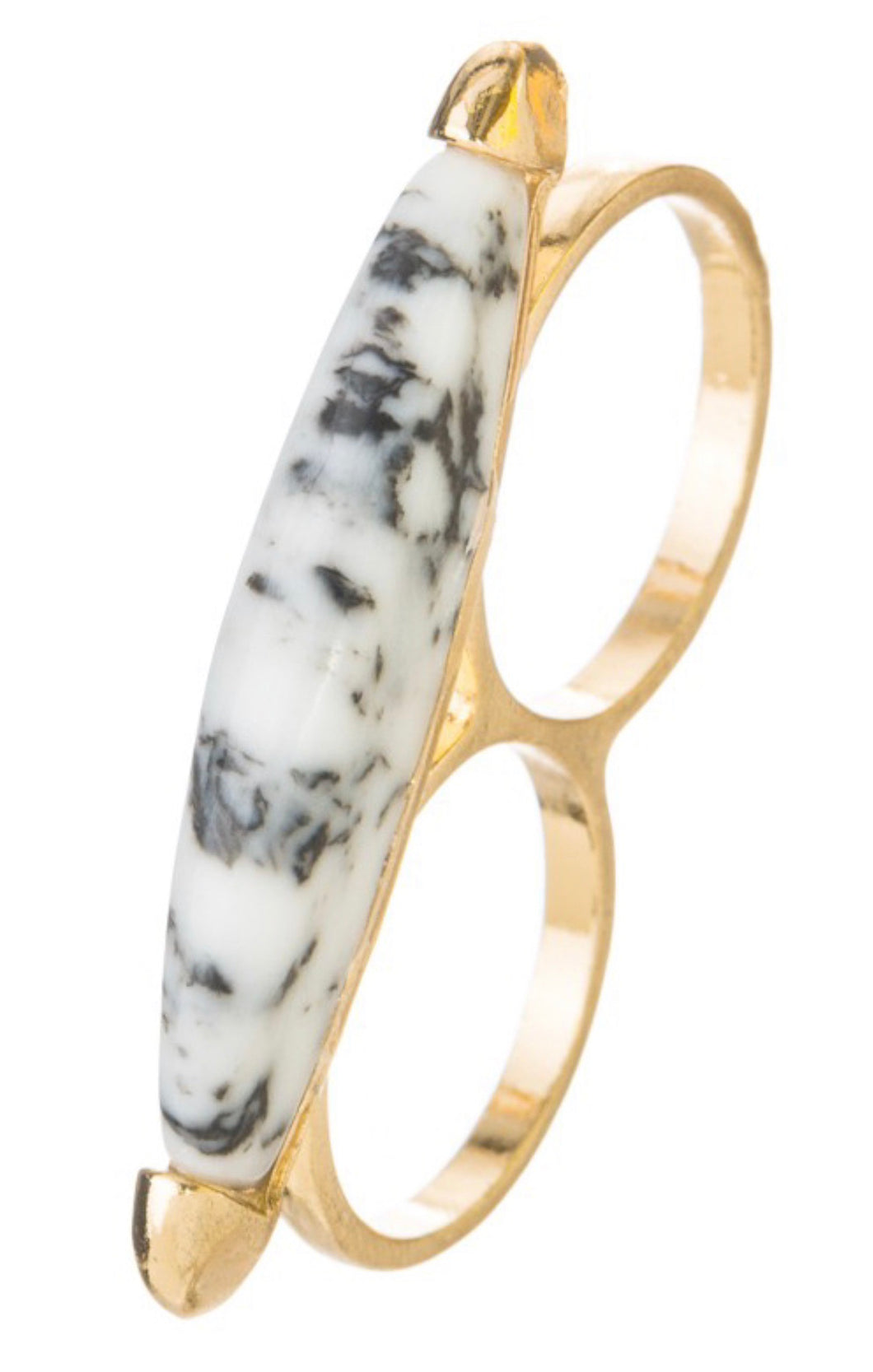 Black & White Marble Double Ring