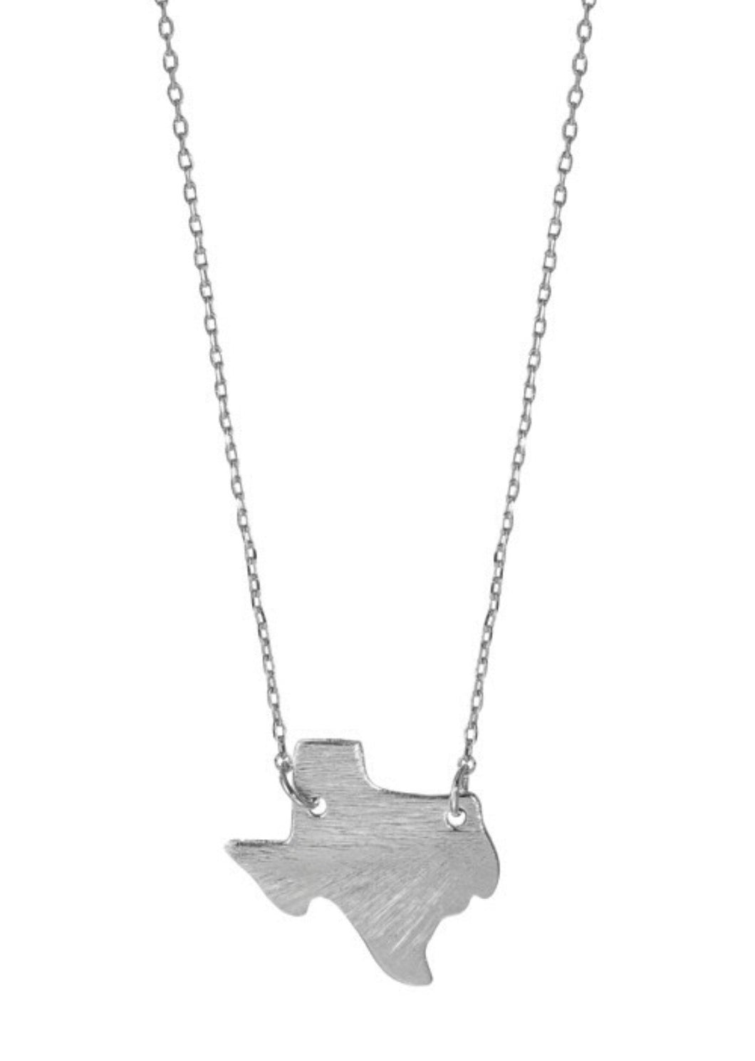 Silver Lone Star Texas Necklace