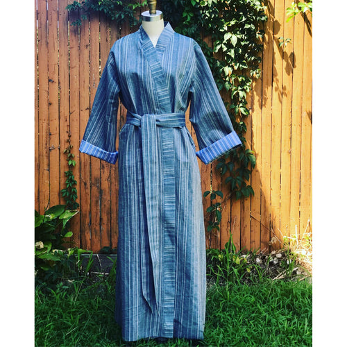 Striped Denim Caftan- Unisex - JUNNY.NYC