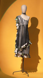 Asymmetrical Metallic Sheath Dress - JUNNY.NYC