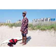 African Wax Print Men's Shawl Collar Caftan - JUNNY.NYC