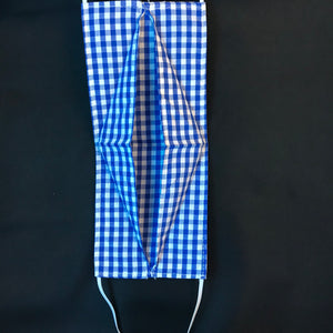 Blue Gingham Summer Face Mask - JUNNY.NYC