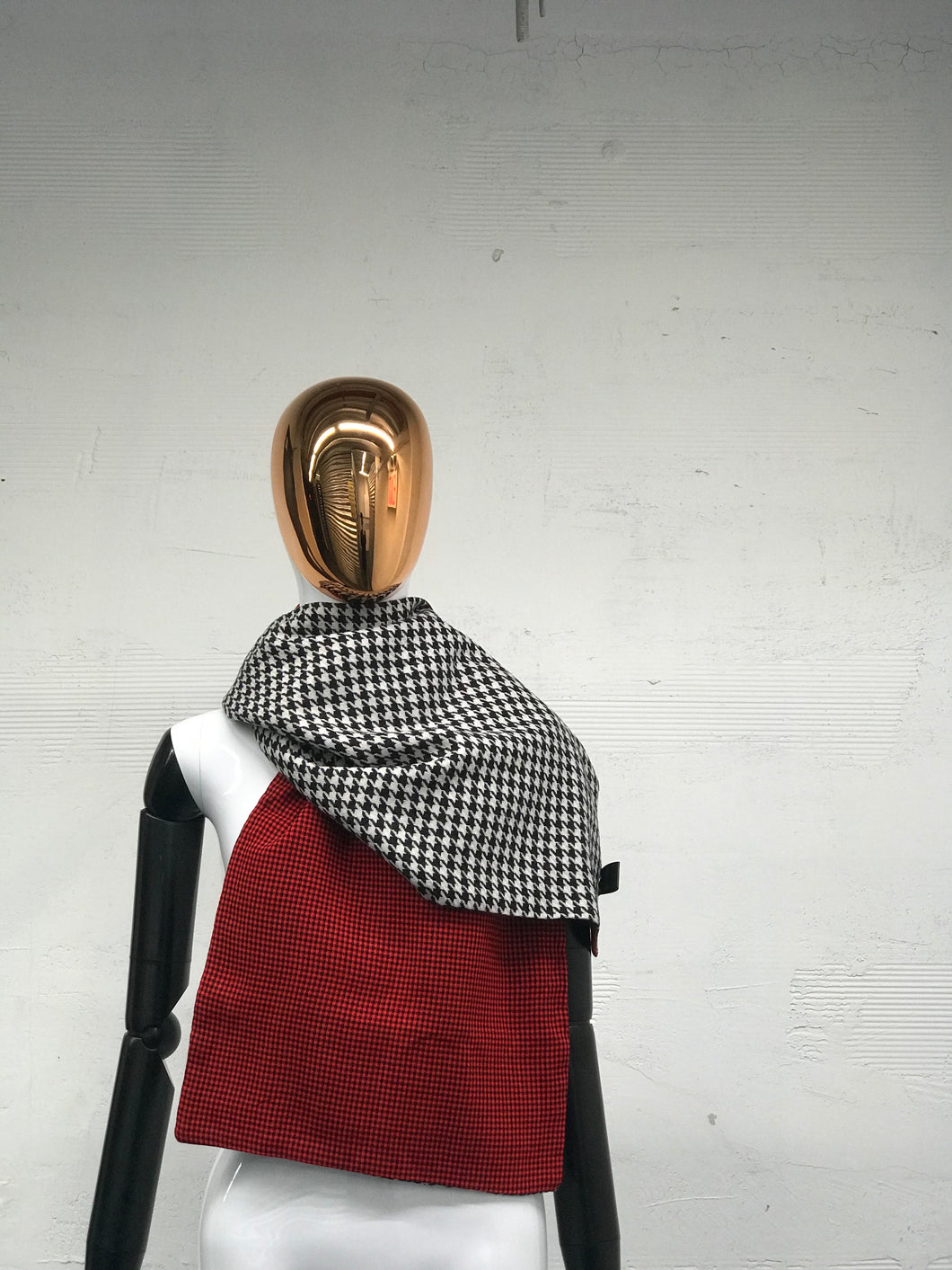 Maasai + Sherpa and Maasai + Hounds Tooth Wool Scarves - JUNNY.NYC
