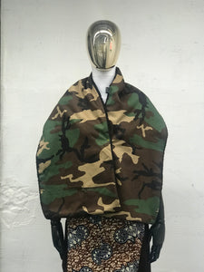 Camouflage and Sherpa Oversized Scarf - JUNNY.NYC