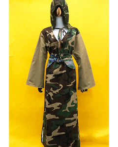 Camo Khaki Camo Caftan Inspired Dress - JUNNY.NYC