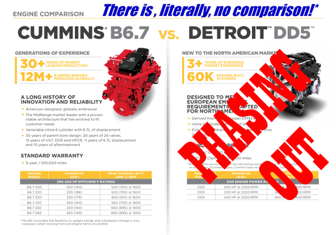 Detroit Diesel DD5 being Phased Out of Production