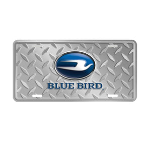 Blue Bird Aluminum License Plate