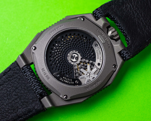 UR-100 GUNMETAL SPACETIME EX-DEMONSTRATION caseback