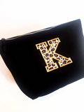 Personalised Leopard Initial Cosmetic Bag