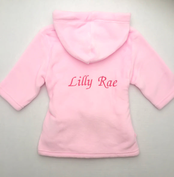 Personalised Pink Robe